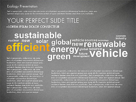 Renewable Energy Word Cloud Presentation Template, Slide 13, 03037, Presentation Templates — PoweredTemplate.com