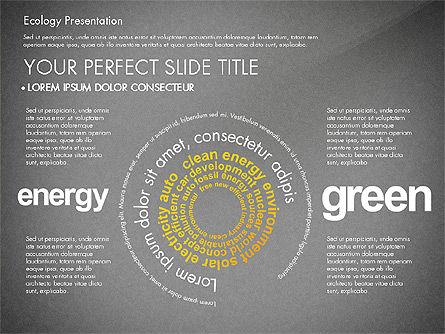 Renewable Energy Word Cloud Presentation Template, Slide 14, 03037, Presentation Templates — PoweredTemplate.com
