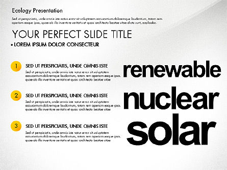 Renewable Energy Word Cloud Presentation Template, Slide 2, 03037, Presentation Templates — PoweredTemplate.com
