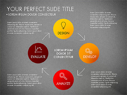 Project Management Process Concept, Slide 12, 03039, Business Models — PoweredTemplate.com
