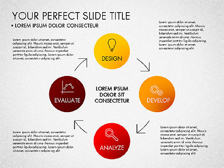 Project Management Process Concept, Slide 4, 03039, Business Models — PoweredTemplate.com