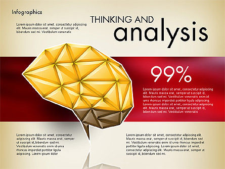 Presentation Templates: Data Driven Report with Polygonal Brain #03041
