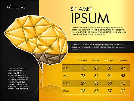 Data Driven Report with Polygonal Brain, Slide 12, 03041, Presentation Templates — PoweredTemplate.com