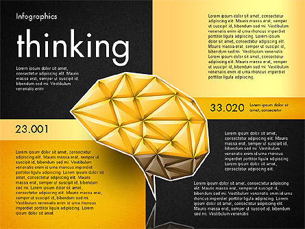 Data Driven Report with Polygonal Brain, Slide 13, 03041, Presentation Templates — PoweredTemplate.com
