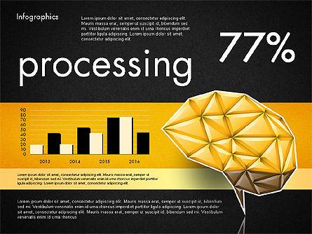 Data Driven Report with Polygonal Brain, Slide 14, 03041, Presentation Templates — PoweredTemplate.com