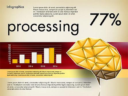 Data Driven Report with Polygonal Brain, Slide 6, 03041, Presentation Templates — PoweredTemplate.com