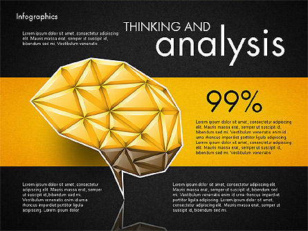 Data Driven Report with Polygonal Brain, Slide 9, 03041, Presentation Templates — PoweredTemplate.com