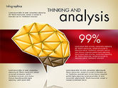 Presentation Templates: Dati del report guidato con il cervello poligonale #03041