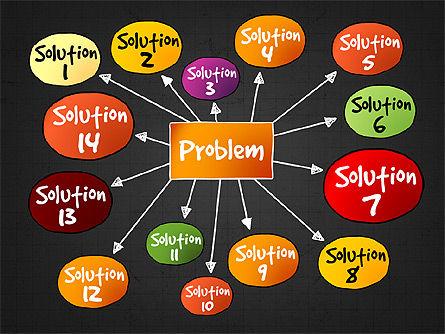 Problem Solution Process Diagram, Slide 10, 03042, Process Diagrams — PoweredTemplate.com