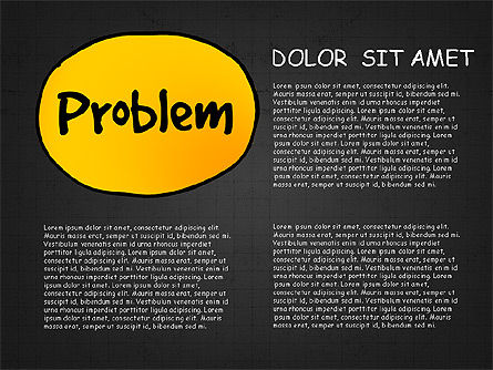 Problem Solution Process Diagram, Slide 11, 03042, Process Diagrams — PoweredTemplate.com