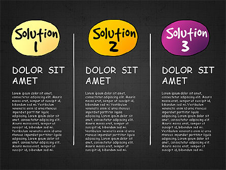 Problem Solution Process Diagram, Slide 12, 03042, Process Diagrams — PoweredTemplate.com