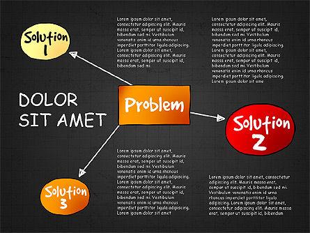 Problem Solution Process Diagram, Slide 13, 03042, Process Diagrams — PoweredTemplate.com