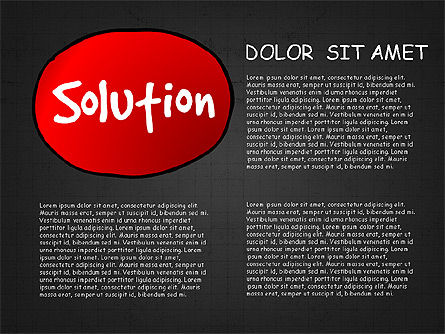 Problem Solution Process Diagram, Slide 14, 03042, Process Diagrams — PoweredTemplate.com