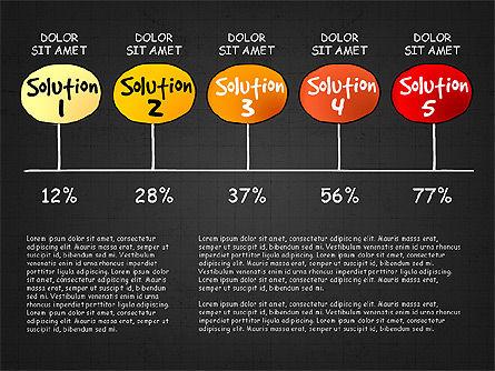 Problem Solution Process Diagram, Slide 15, 03042, Process Diagrams — PoweredTemplate.com