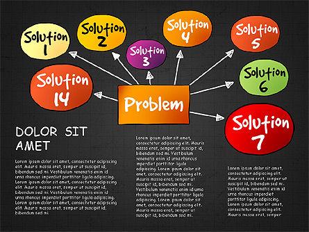 Problem Solution Process Diagram, Slide 16, 03042, Process Diagrams — PoweredTemplate.com
