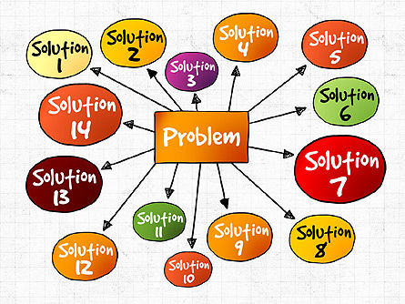 Problem Solution Process Diagram, Slide 2, 03042, Process Diagrams — PoweredTemplate.com