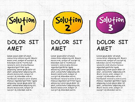 Problem Solution Process Diagram, Slide 4, 03042, Process Diagrams — PoweredTemplate.com