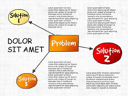 Problem Solution Process Diagram, Slide 5, 03042, Process Diagrams — PoweredTemplate.com