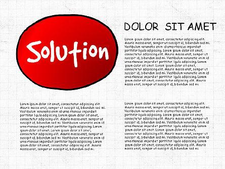 Problem Solution Process Diagram, Slide 6, 03042, Process Diagrams — PoweredTemplate.com