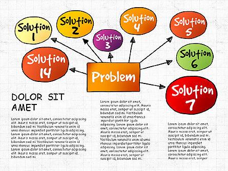 Problem Solution Process Diagram, Slide 8, 03042, Process Diagrams — PoweredTemplate.com