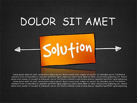Problem Solution Process Diagram, Slide 9, 03042, Process Diagrams — PoweredTemplate.com