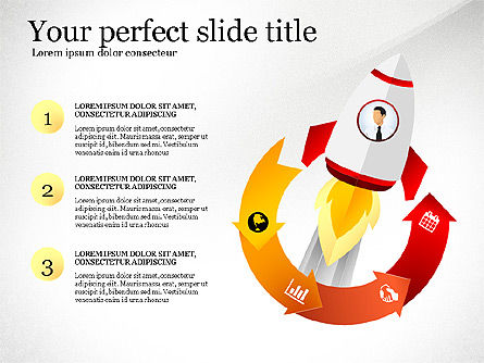 Launching a Business Presentation Template, Slide 2, 03043, Presentation Templates — PoweredTemplate.com