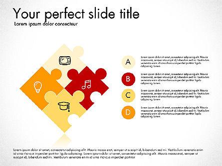 Puzzle Pieces with Icons, Slide 5, 03044, Puzzle Diagrams — PoweredTemplate.com