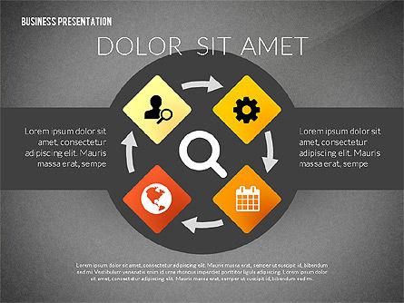 Process Shapes Icons, Slide 10, 03045, Process Diagrams — PoweredTemplate.com