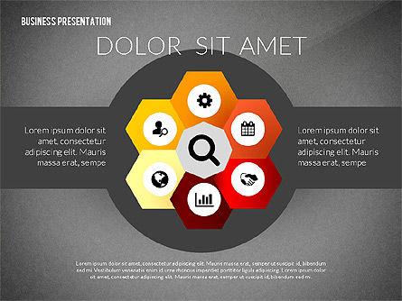 Process Shapes Icons, Slide 12, 03045, Process Diagrams — PoweredTemplate.com