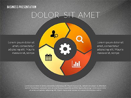 Process Shapes Icons, Slide 13, 03045, Process Diagrams — PoweredTemplate.com