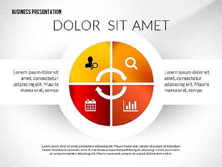 Process Shapes Icons, Slide 7, 03045, Process Diagrams — PoweredTemplate.com
