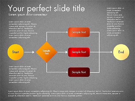 Flow Chart Toolbox, Slide 10, 03046, Flow Charts — PoweredTemplate.com