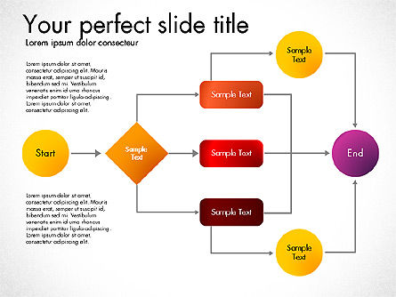 Flow Chart Toolbox, Slide 8, 03046, Flow Charts — PoweredTemplate.com