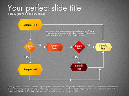 Flow Chart Toolbox, Slide 9, 03046, Flow Charts — PoweredTemplate.com