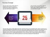 Process Diagrams: 彩色的过程箭头和对象 #03049