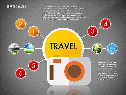 Travel Presentation Concept in Flat Design, Slide 12, 03055, Presentation Templates — PoweredTemplate.com