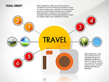 Travel Presentation Concept in Flat Design, Slide 4, 03055, Presentation Templates — PoweredTemplate.com