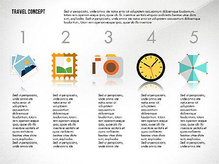 Travel Presentation Concept in Flat Design, Slide 6, 03055, Presentation Templates — PoweredTemplate.com