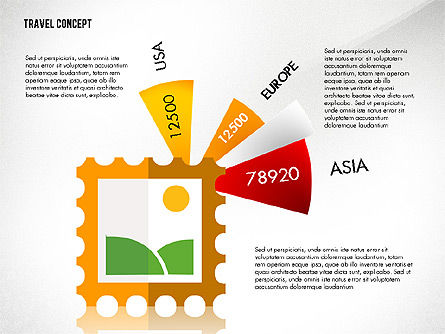 Travel Presentation Concept in Flat Design, Slide 7, 03055, Presentation Templates — PoweredTemplate.com