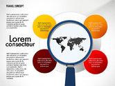 Presentation Templates: Travel Presentation Concept in Flat Design #03055