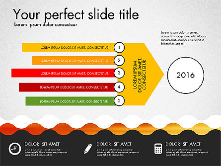 Timeline and Process Presentation Template, 03056, Process Diagrams — PoweredTemplate.com