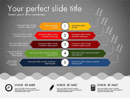Timeline and Process Presentation Template, Slide 10, 03056, Process Diagrams — PoweredTemplate.com