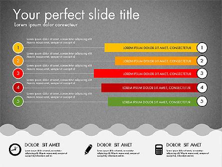 Timeline and Process Presentation Template, Slide 13, 03056, Process Diagrams — PoweredTemplate.com