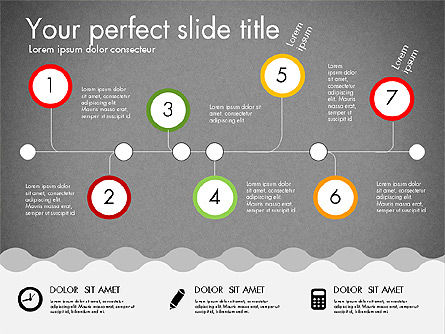 Timeline and Process Presentation Template, Slide 14, 03056, Process Diagrams — PoweredTemplate.com