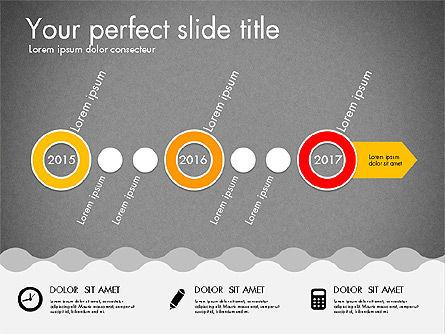 Timeline and Process Presentation Template, Slide 15, 03056, Process Diagrams — PoweredTemplate.com