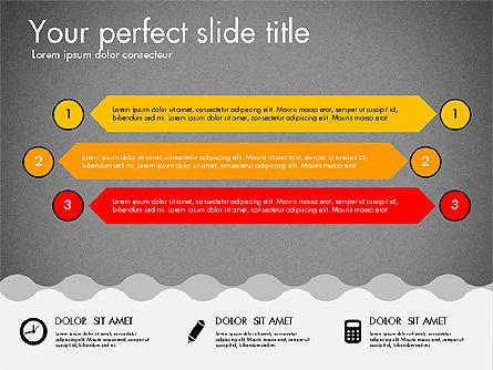 Timeline and Process Presentation Template, Slide 16, 03056, Process Diagrams — PoweredTemplate.com