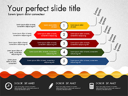 Timeline and Process Presentation Template, Slide 2, 03056, Process Diagrams — PoweredTemplate.com
