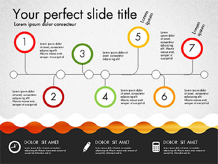 Timeline and Process Presentation Template, Slide 6, 03056, Process Diagrams — PoweredTemplate.com