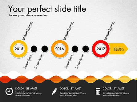 Timeline and Process Presentation Template, Slide 7, 03056, Process Diagrams — PoweredTemplate.com