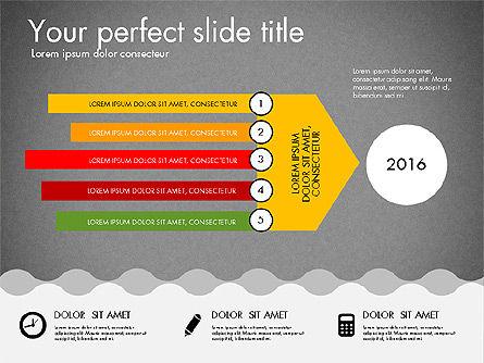 Timeline and Process Presentation Template, Slide 9, 03056, Process Diagrams — PoweredTemplate.com
